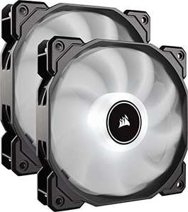 Lot de 2 Ventilateurs PC Corsair AF140 - Air Series, 140mm, LED, Blanc 1727571