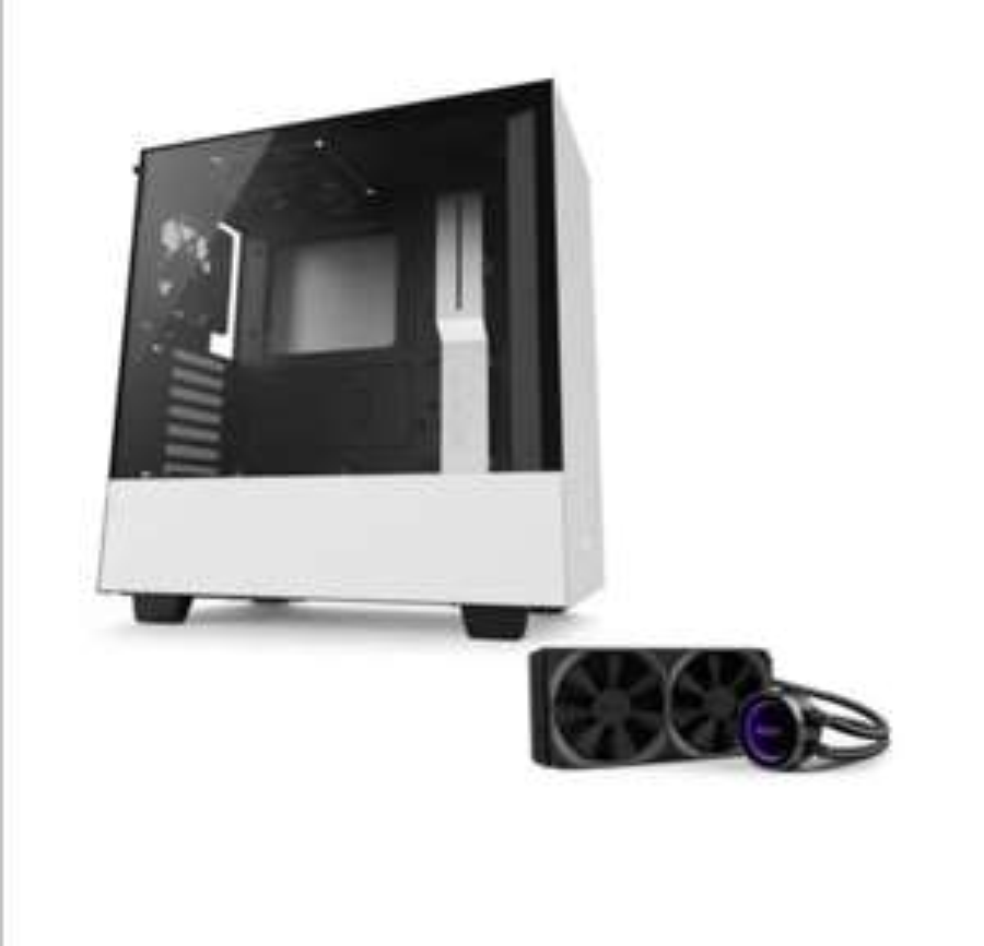 Pack boitier PC NZXT H500 blanc + Watercooling AIO NZXT Kraken x62 280mm