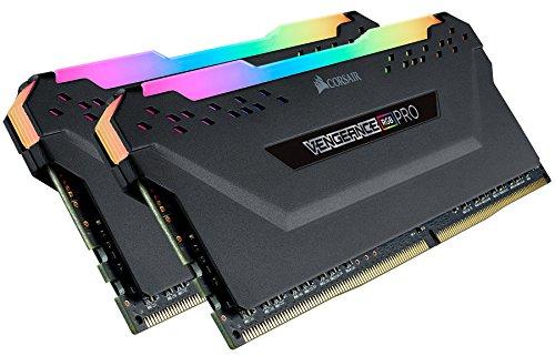 Kit mémoire RAM Corsair Vengeance RGB Pro - 32 GO (2 x 16 Go), DDR4, 3200 MHz, C16