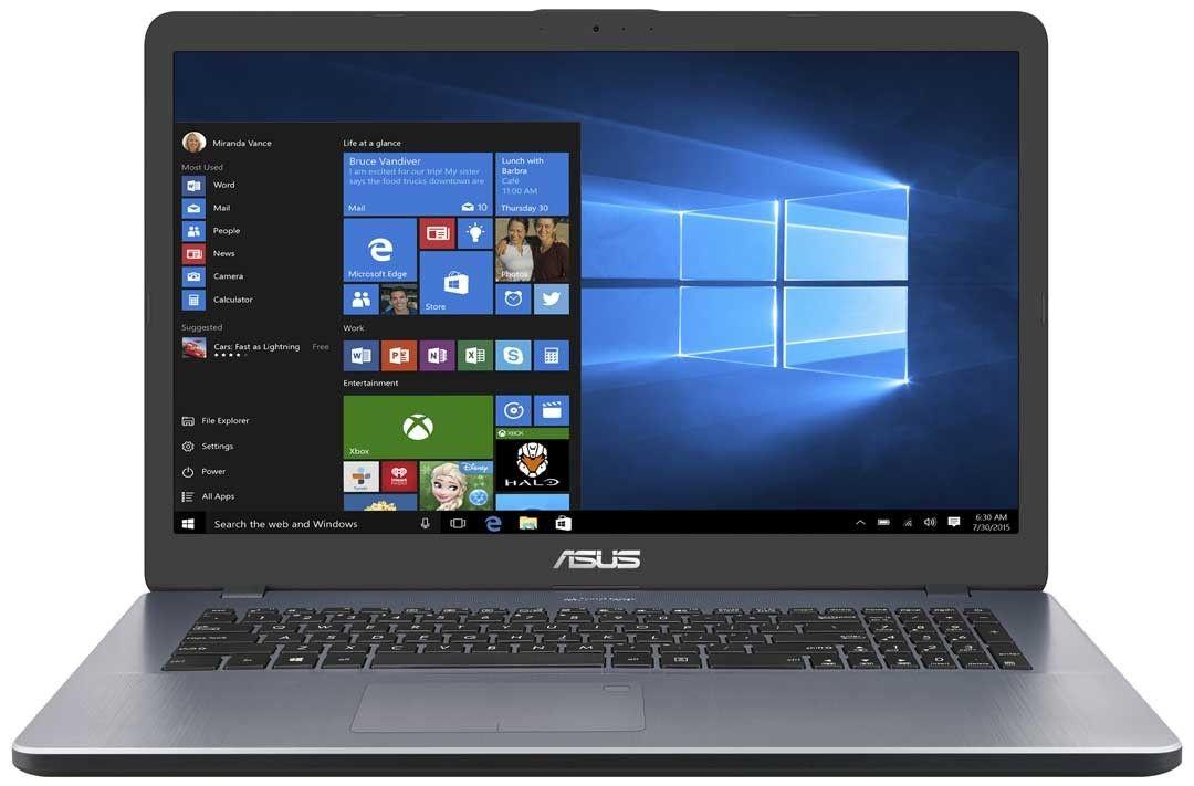 "PC portable 17.3"" Asus X 705 UA-BX 402 T - i3-6006U, 256 Go SSD, 4 Go RAM, Intel HD Graphics"