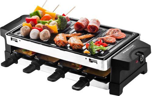 Appareil à raclette 2 en 1 Finecook By Akor - Noir,8 poêlons et 6 fourchettes (Vendeur Tiers)