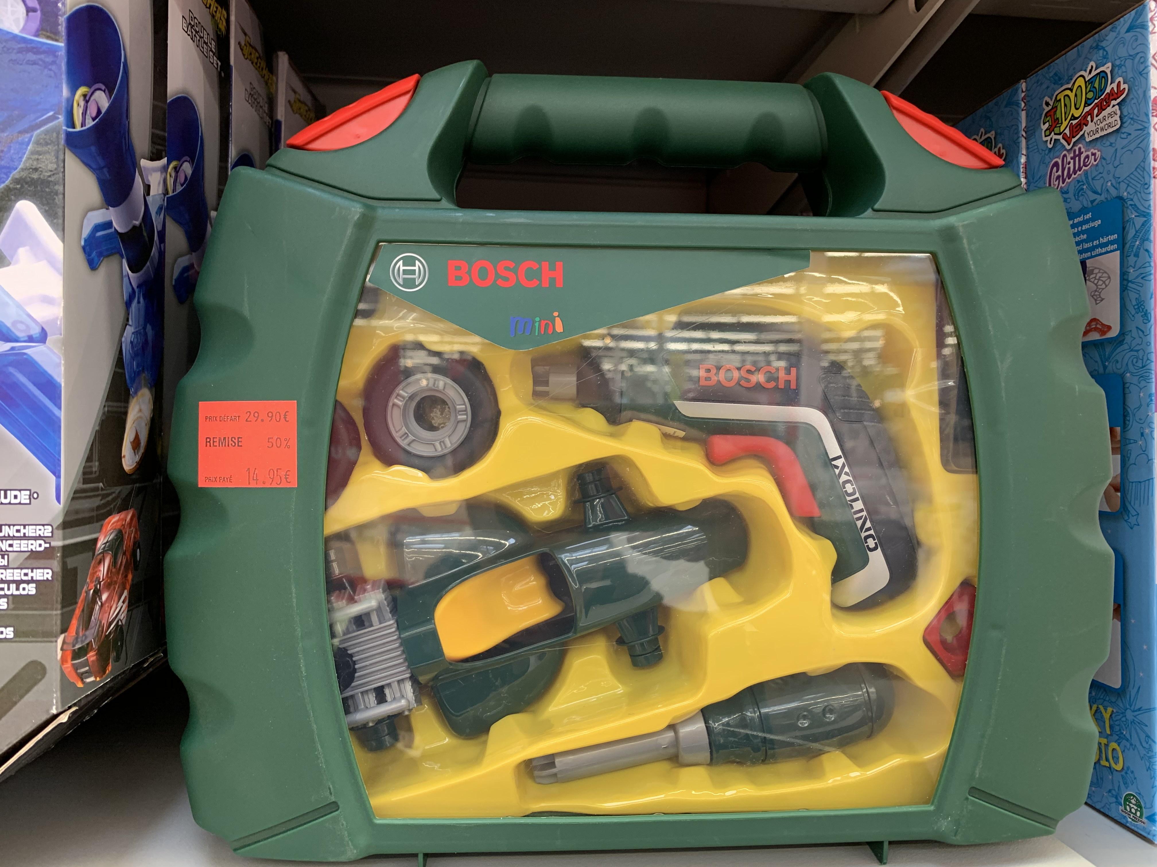 Sélection de jeux et jouets en promotion (Ex: jouets d'imitation Bosch Mini) - Merignac (33)