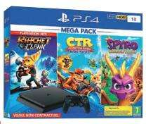 Pack Console PS4 Slim - 1 To + Crash Team Racing + Spyro Trilogy + Ratchet - Vannes (56)