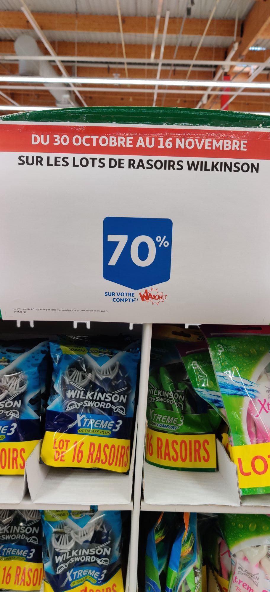 Lot de 16 rasoirs Wilkinson - Auchan Taverny 95 (Via 12.17€ sur la Carte de Fidélité)