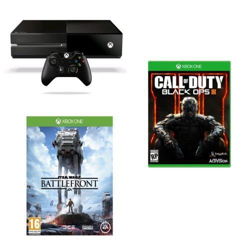 Console Microsoft Xbox One 500 Go + Call of Duty Black Ops 3 + Star Wars Battlefront +30€ en chèque cadeau
