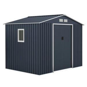 Abri de jardin en métal - 5,29m², 2 portes coulissantes
