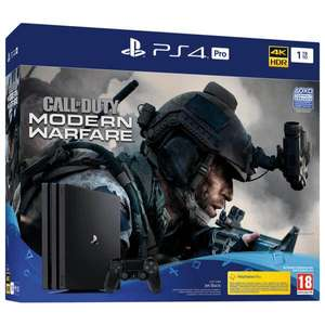 Console Sony PS4 Pro 1 To + Call of Duty Modern Warfare (Frontaliers Suisse)