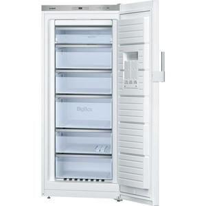 Congélateur armoire Bosch GSN51AW31 - 286L, Froid ventilé, A++, L 70cm x H 161cm - Blanc