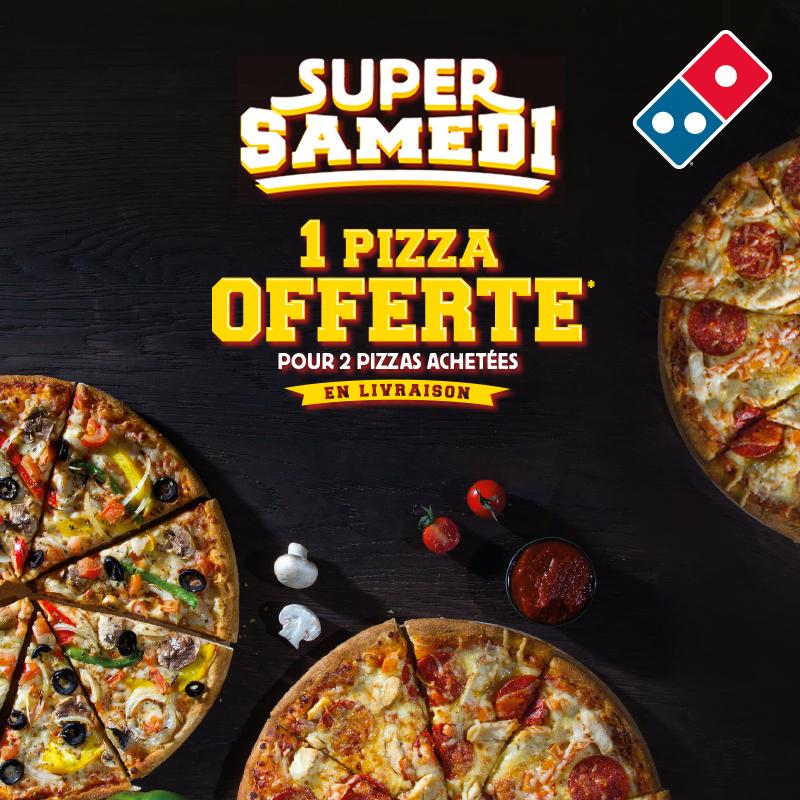 1 Pizza offerte pour 2 Pizzas achetées en Livraison