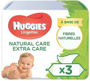 2 Lots de 12 x 56 lingettes Huggies Natural Care