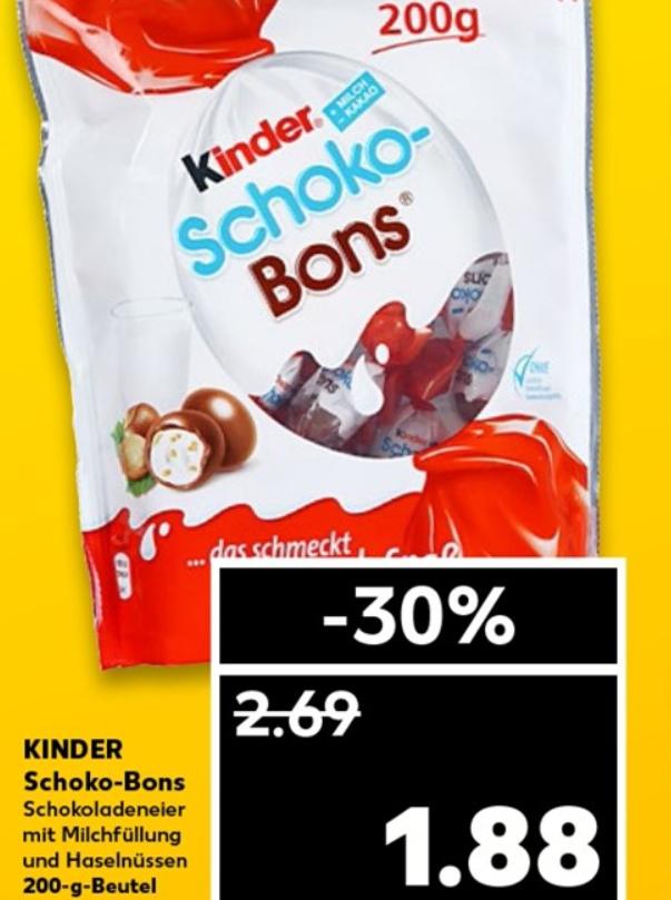 Paquet de chocolat Kinder Chocobon - 200 grammes (Frontaliers Allemagne)