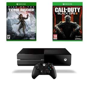 Pack Console Xbox One 1To + Rise of the Tomb Raider & Tomb Raider Definitive Edition + Call of Duty Black Ops III