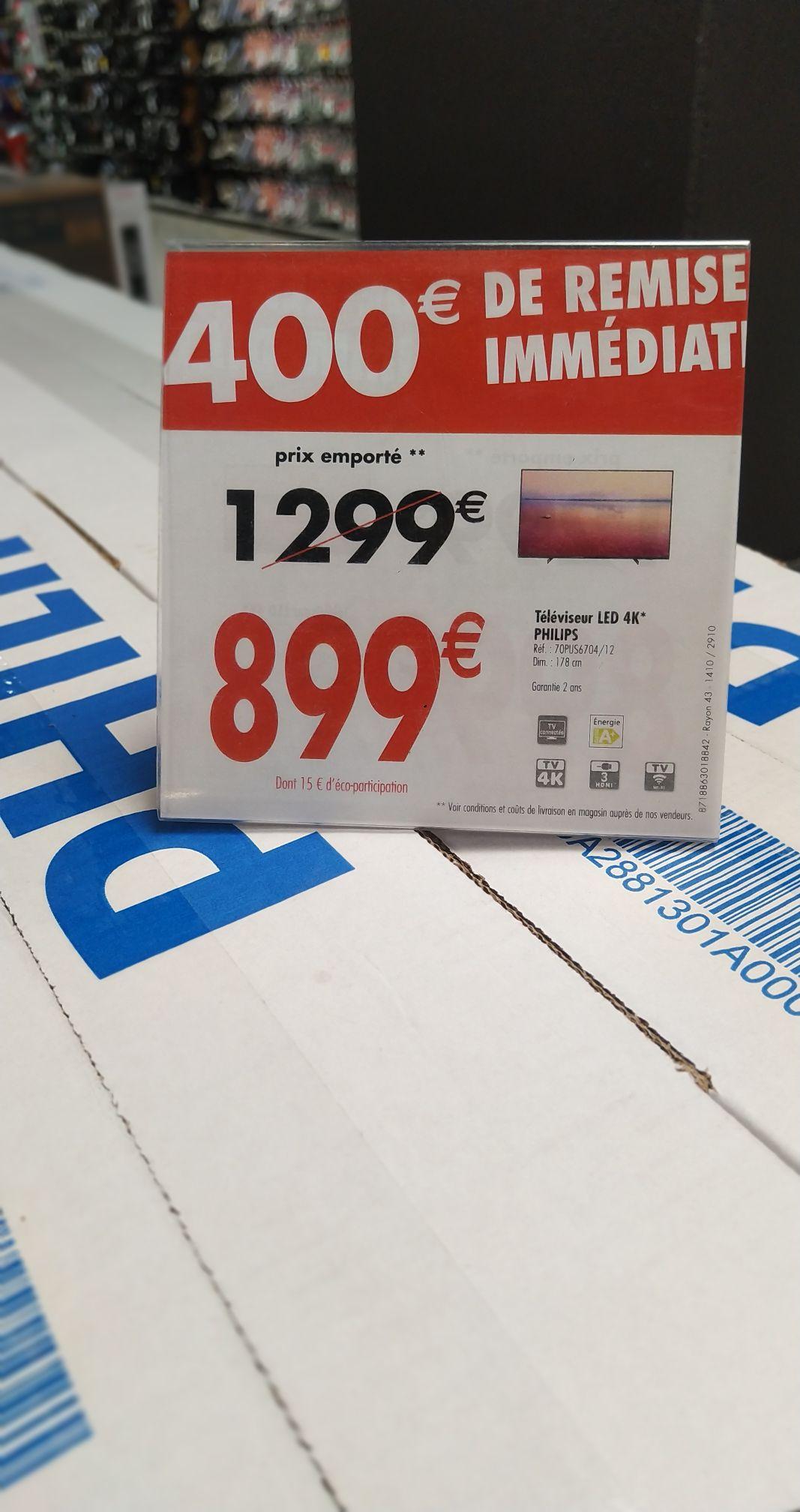 "TV 70"" Philips 70PUS6704/12 - UHD 4K, HDR 10+, WiFi, Ambilight 3 cotés (Pontault-Combault 77)"