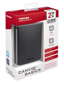 "Disque dur externe 2.5"" Toshiba Canvio Basics 2To USB 3.0"