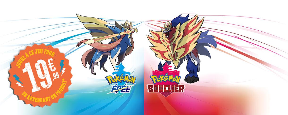 Pokémon Epée ou Bouclier à 19.99€ (Via reprise d'un ancien jeu parmi une sélection)
