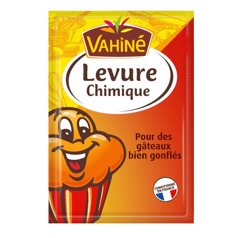 Lot de 3 packs de 5 sachets de levure chimique Vahiné - 11 g