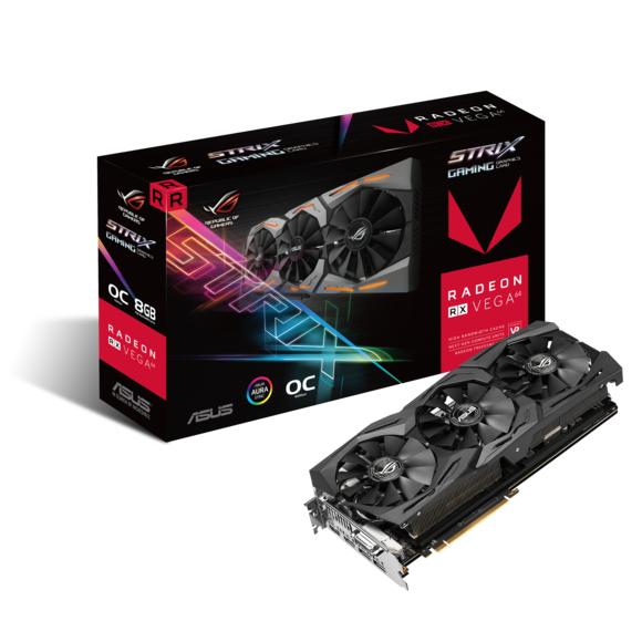 Carte graphique Asus ROG Strix Radeon RX Vega 64 OC Gaming - 8 Go (Reconditionnée)
