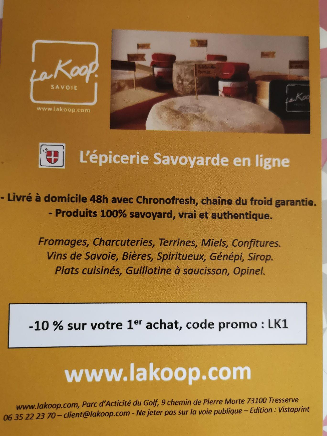 [Nouveaux clients] 10% de remise sur votre première commande - LaKoop