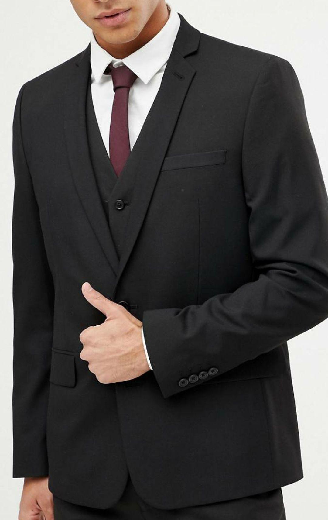 Sélection d'articles en promotion - Ex : Veste Costume Ajustée Asos design - Noir