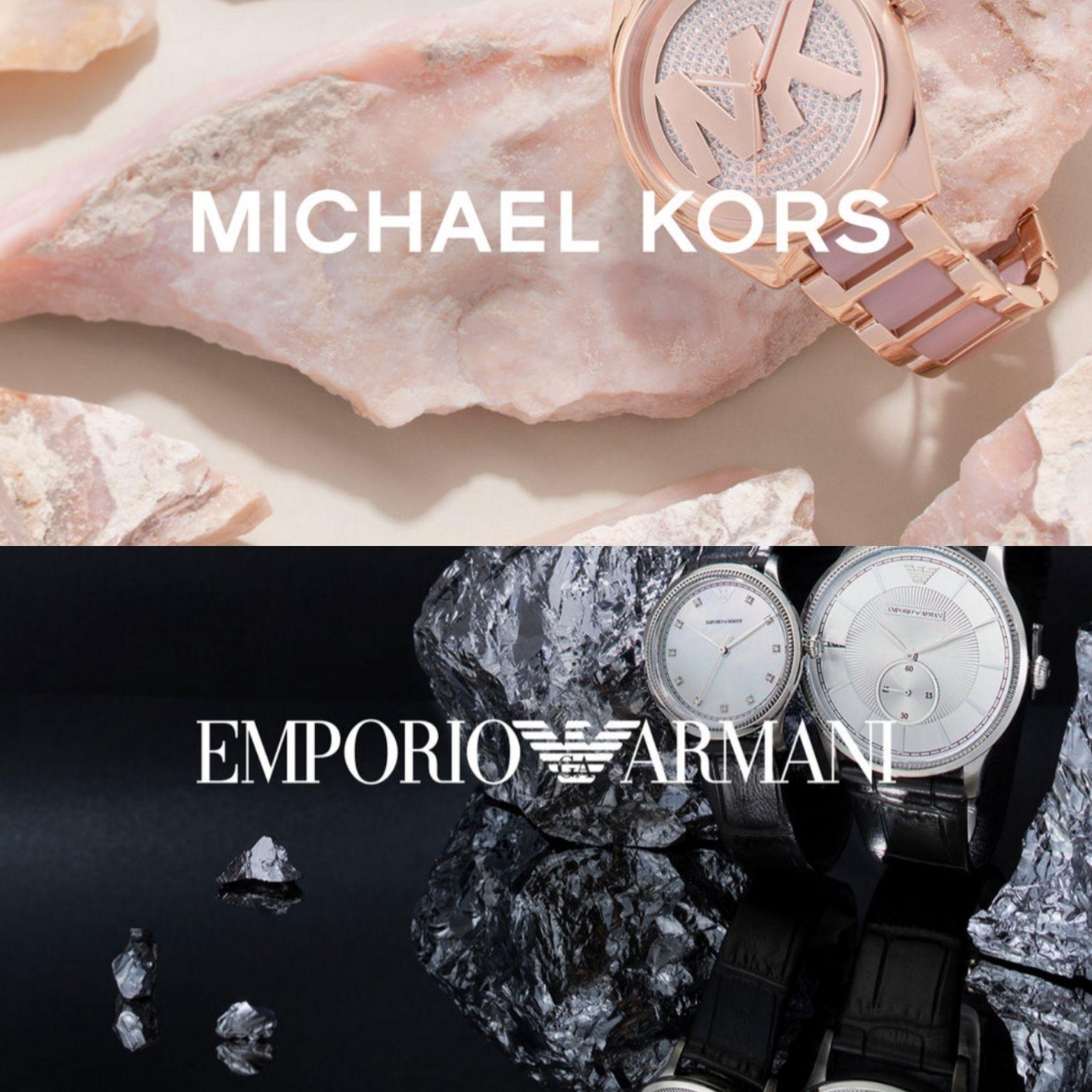 Sélection de Montres Emporio Armani et Michael Kors en promotion