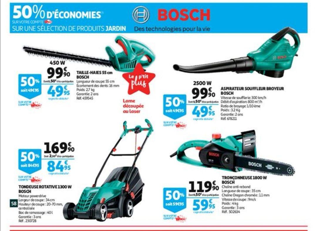 50% de remise fidélité sur une sélection de produits Bosch