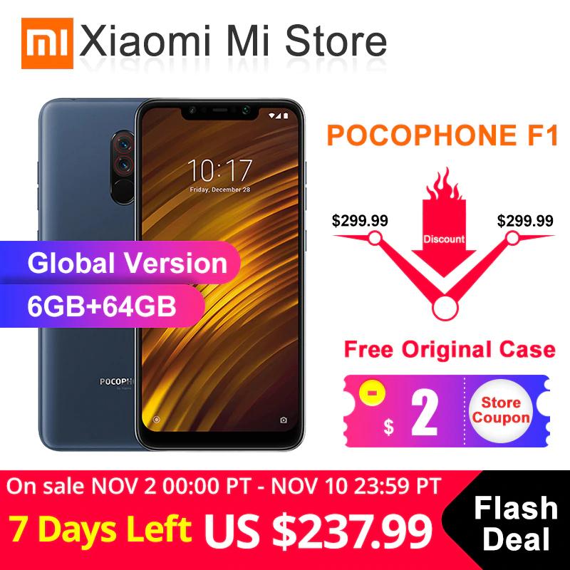 "Smartphone 6.18"" Xiaomi Pocophone F1 - 6 Go, 64 Go"