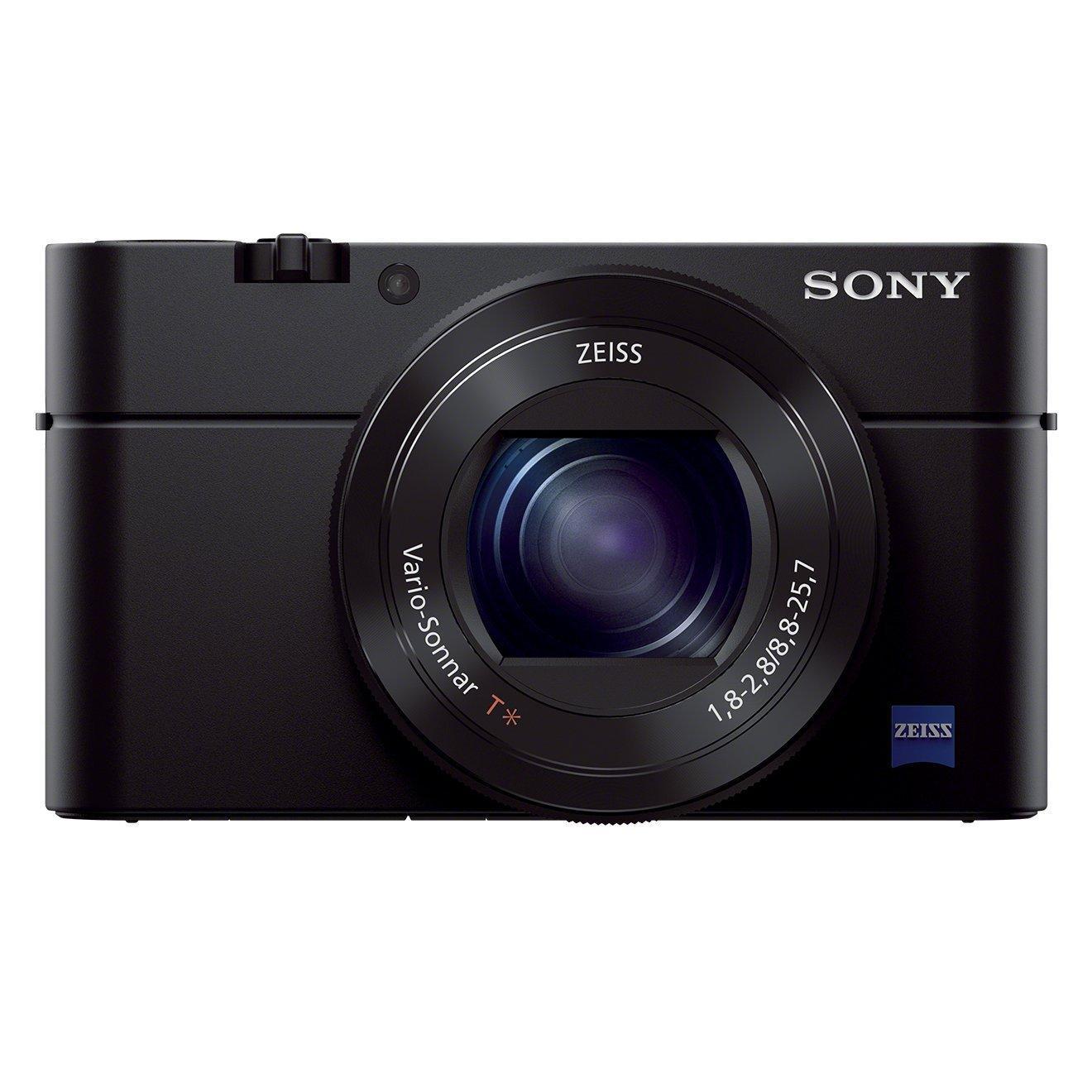 Appareil photo compact Sony Cyber-shot DSC-RX100M3 : 20.1 Mpix, Zoom Optique 3x, Wifi, NFC, Noir (50€ ODR)