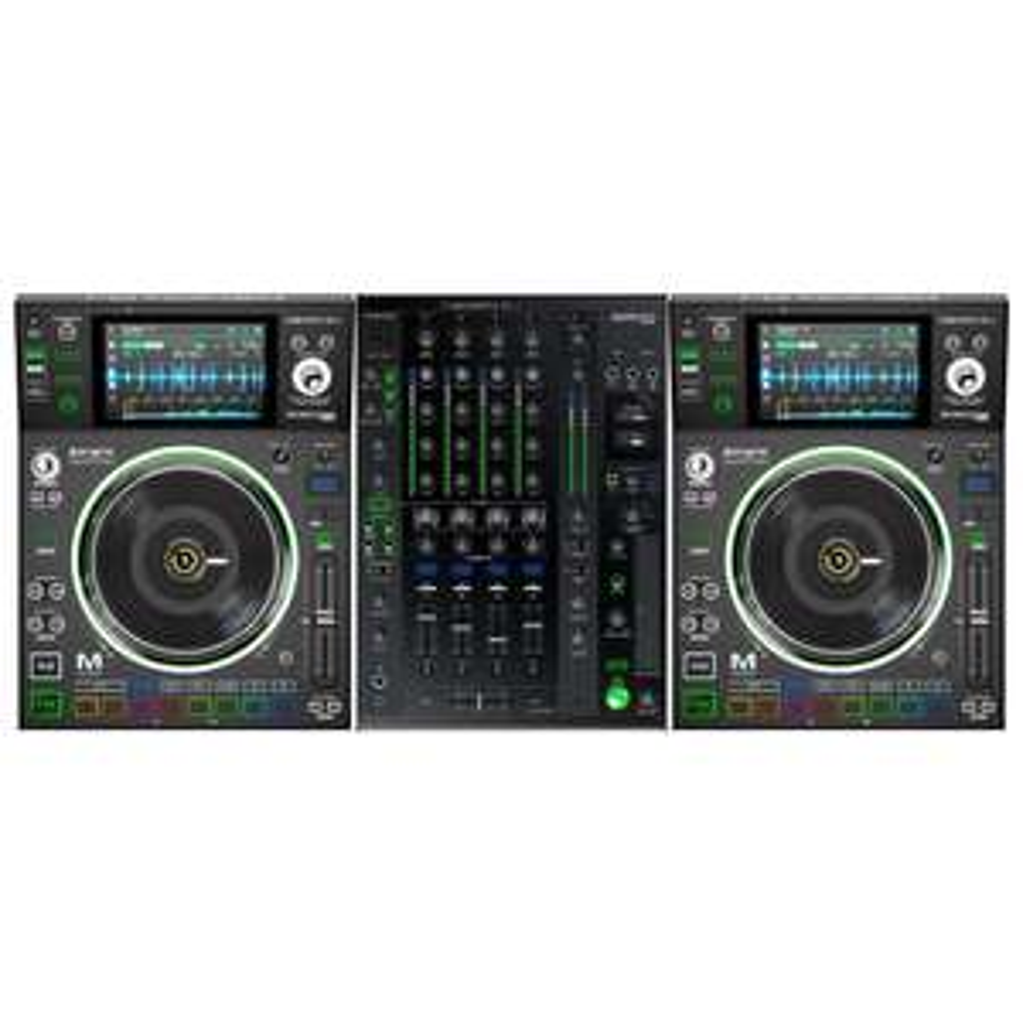 Pack 2 Platines Denon SC5000m Prime + Table de mixage Denon X1800