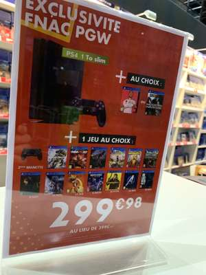 Console PS4 Slim - 1 To + 2 jeux - Stand Fnac Paris Games Week (75)