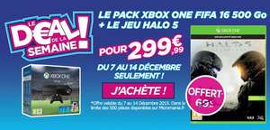 Pack Console Xbox One 500 Go + Fifa 16 + Halo 5 : Guardians