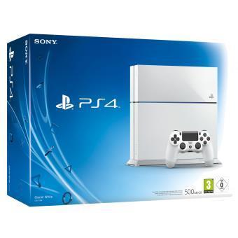 [Adhérents] Console Sony PS4 500 Go - Blanche/Noire + 20€ en bon d'achat