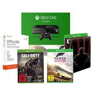 Pack Console Xbox One 500Go + Forza Horizon 2 + Call of Duty: Black Ops III - Steelbook + Call of Duty: Advanced Warfare - Day Zero Edition + Microsoft Office 365 Personal 1 an d'abonnement