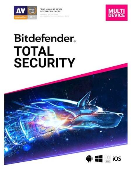 Licence Bitdefender Total Security 2020 - 5 Appareils, 1 An