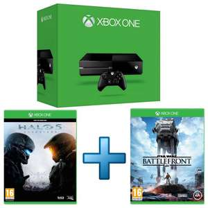 Console Microsoft Xbox One 500 Go + Halo 5 : Guardians + Star Wars : Battlefront