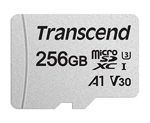 Carte Micro SDXC/SDHC Transcend UHS-3 V30 - 256 Go, avec adaptateur SD