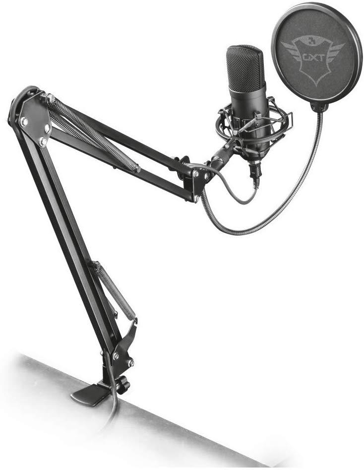 Microphone USB Trust Gaming GXT 252+ Emita Plus + Bras