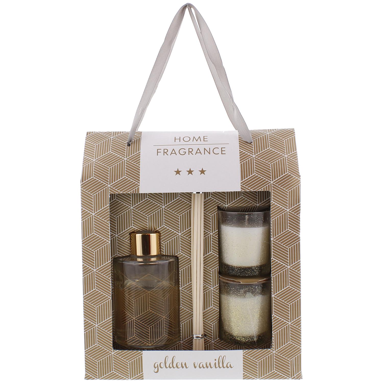 Coffret cadeau bâtonnets, diffuseur et bougies parfumés - Diverses variantes