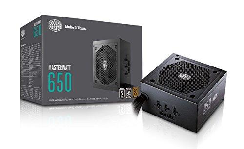 Alimentation PC semi-modulaire Cooler Master MasterWatt 650 - 650W, 80+ Bronze (vendeur tiers)