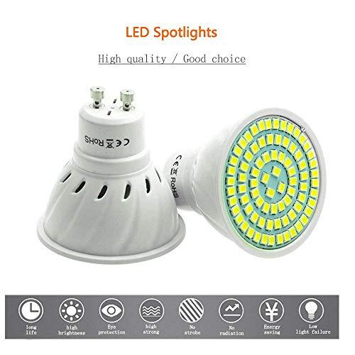 Lot de 10 Spots LED GU10 Pocketman 5W, 450LM, Blanc Chaud (3000K), AC 220V, Angle de 120 ° (Vendeur Tiers)
