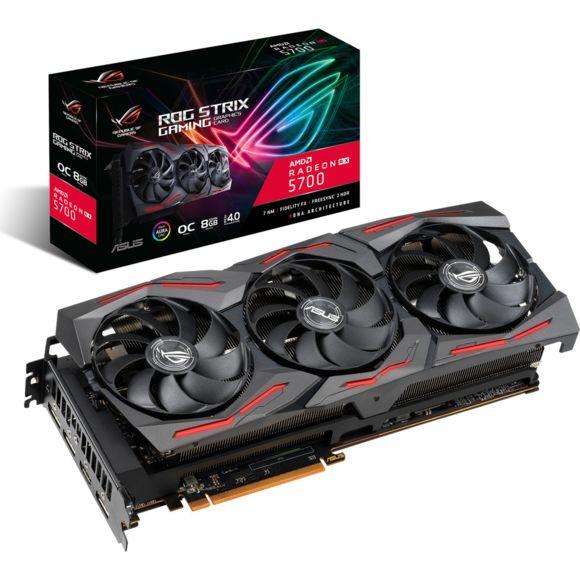 Carte graphique Asus ROG Strix Radeon RX 5700 O8G Gaming - 8 Go