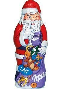 Père Noël en chocolat Milka 130g (50% sur la carte + BDR)