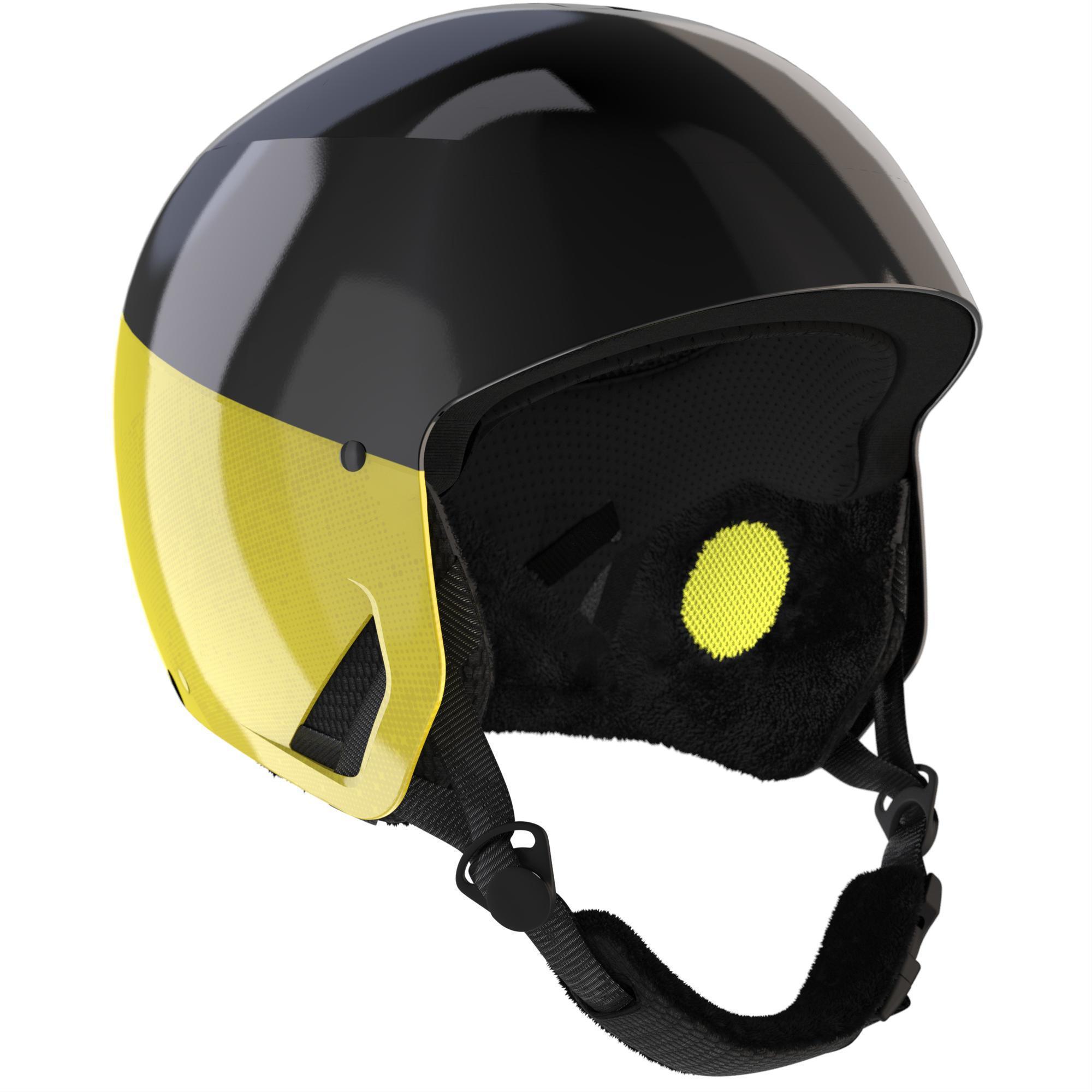 Casque de ski pour adulte Wedze HRC 500 - blanc/rouge ou jaune/noir (du S au L)