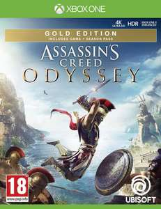 Assassin's Creed Odyssey Gold Edition : Jeu de base + Season Pass + AC 3 Remastered + AC Liberation Remastered sur Xbox One