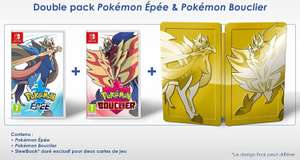 Pack Pokémon: Bouclier + Pokémon: Épée sur Switch (+ steelbook)