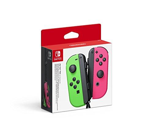 Paire de Manettes Joy-Con Vert Néon & Rose Néon pour Consoles Nintendo Switch (Via Coupon)