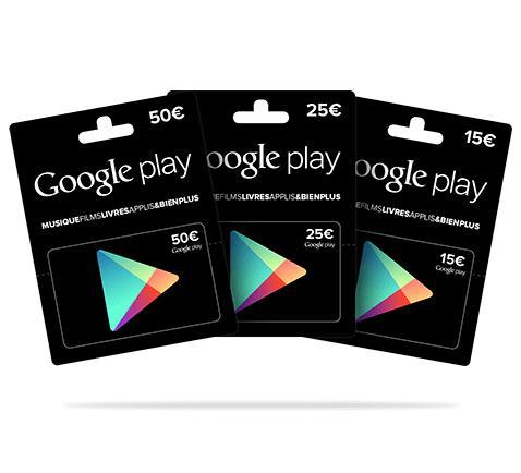 10% de réduction sur les cartes Google play - Ex : Carte de 15€ (avec 1,50 €sur la carte)