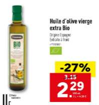 Bouteille d'Huile d'Olive Vierge Extra Bio - 500ml