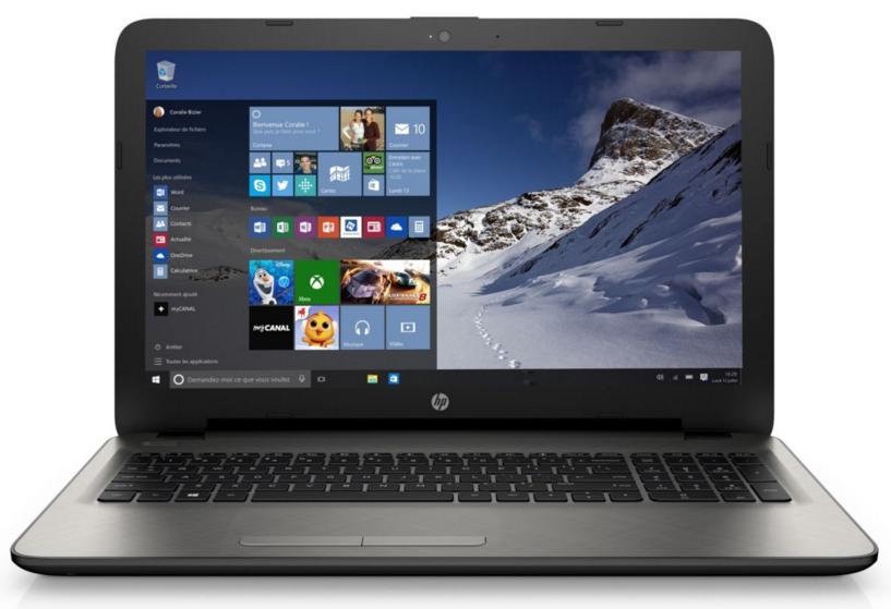 PC Portable HP W10 15-ac123nf Silver + Souris sans fil HP X3000