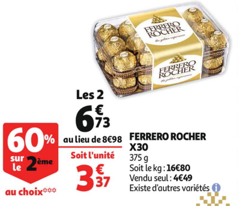 2 Boites de chocolat Ferrero Rocher - 2x 30