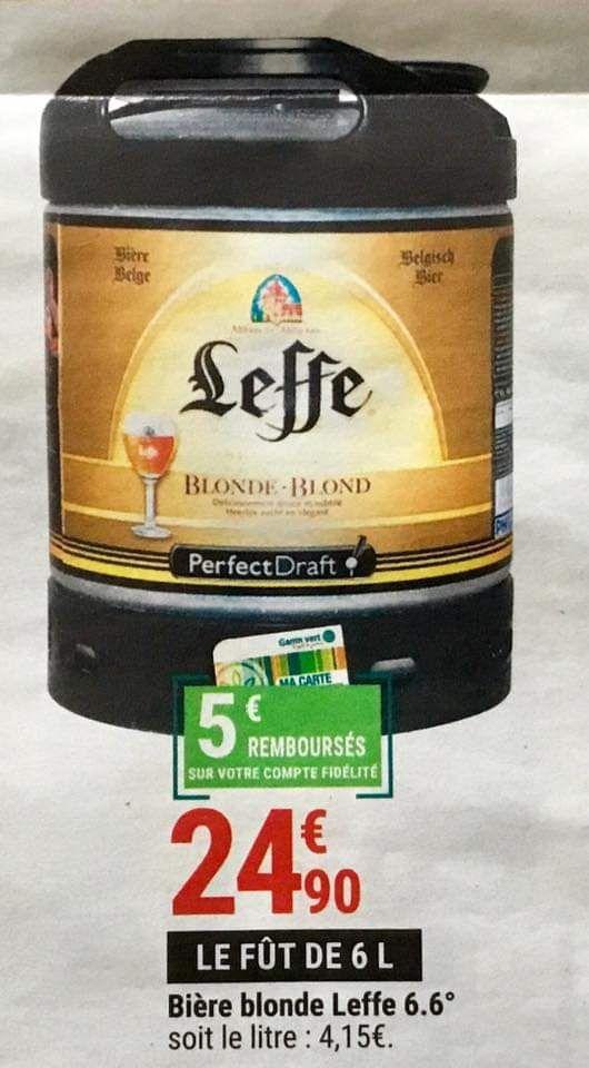Fût de bière blonde Perfect Draft - 6L (via 5€ sur la carte fidélité)